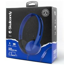 NEW Skullcandy Stim Blue On Ear Headphones with Mic, Call & Track Control SEALED