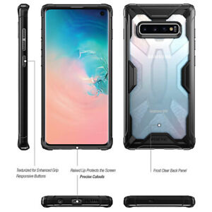 [50pcs] Galaxy S10 6.1 Case,Poetic Scratch Resistant Clear Bumper Cover Black