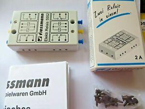 Viessmann Blinkrelais 5552 Neu mit Steckern und Anleitung Neu in OVP