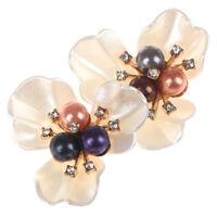 2pcs bricolage brodé paillettes perle tissu patch trèfle décoration de chaussLBB