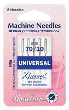 Tamaño 70/10 aguja para máquina de coser-Klasse Universal Agujas bien-Pack 5