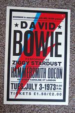 David Bowie Concert Tour Poster 1973 Hammersmith Odeon