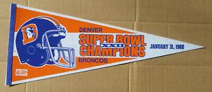 1988 DENVER BRONCOS Super Bowl XXII Pennant