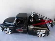 JADA 1/24 SCALE '55 CHEVY TOW TRUCK W/ CUSTOM WHEELS,SOLD LOOSE NO BOX.