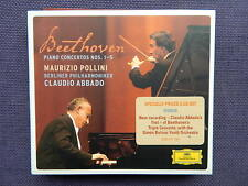 BEETHOVEN: 5 Klavierkonzerte, Tripelkonzert; Claudio Abbado, M. Pollini u.a. 3CD