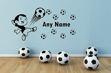 Personalised Soccer Football Any Name Vinyl Wall Sticker Art Decal Kids Bedroom