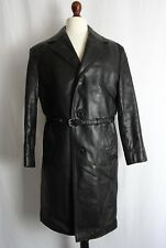 VINTAGE 60'S NIKATOR GERMAN LEATHER MOTORCYCLE MILITARY TRENCH COAT 40R KB542
