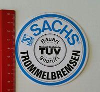 Aufkleber/Sticker: Sachs Trommelbremsen - TÜV geprüft (140217103)