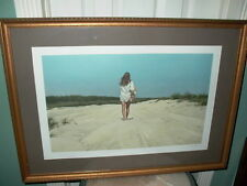 Listed Artist Alan Price Signed Framed Litho Lithograph Beach Scene