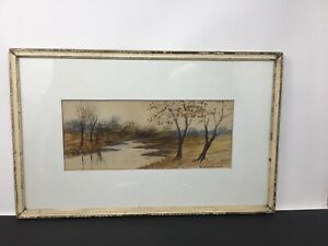 William George Puddefoot Watercolor Landscape Painting 1842-1925 American Artist
