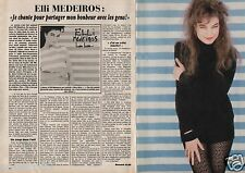 Coupure de presse Clipping 1987 Elli Medeiros (2 pages)