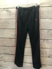 adidas Black / Pink Stripe Activewear 100% Polyester Elastic Waist Pockets Wome
