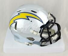 Joey Bosa Autographed Chargers Chrome Mini Helmet - Beckett Auth *White