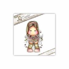 Magnolia SS16 Tilda with an armful of flowers Rubber Stamp -2016 Release