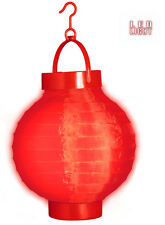 LED Stoff Lampion rot NEU - Partyartikel Dekoration Karneval Fasching