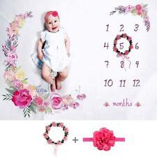 Photos Background Blanket Monthly Growth Milestone Prop for Newborn Baby