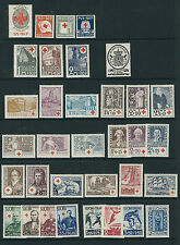 Finland 1922-38 Complete run of semi postals (Scott B1-34) F/Vf Mh/Mlh