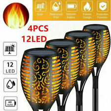 More details for 4x led flame solar torch light waterproof flickering dancing path garden lamp`