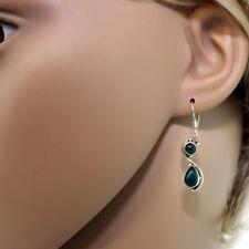 Jade Ohrhänger Sterling Silber 925  Ohrringe Grün Ohrschmuck Damen chan2