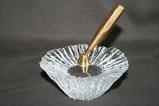 Porte stylo articulé, support en cristal de Daum