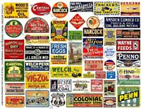 Model Railroad Signs, Printed Sheet, 56 Coal, Oil, Farm and Advertising Sign 517