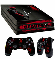 PS4 Pro Skin DEADPOOL 001 Wade Wilson MERCENARY AUTOCOLLANT + 2 pad vinyle LAY