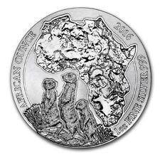 Rwanda African Wildlife Meerkat 2016 1 oz .999 Silver Coin