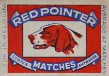 Old Print. REDPOINTER STRIKE MATCHES ANYWHERE -  matchbox cover art (Belgium)