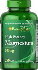 Alta Potenza MAGNESIO 500 mg x 250 compresse puritans Pride * INCREDIBILE PREZZO *