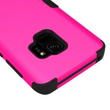 FOR SAMSUNG GALAXY S9 G960 PINK BLACK TUFF 3-PIECE SHOCKPROOF CASE IMPACT COVER