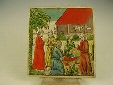 Antiker seltener Biedermeier Taufbrief Handkoloriert von 1810