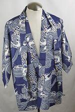 Marukyo Japanese Blue Dragon Haori Jacket w Belt | Cotton | Japan | Large L-850