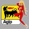AGIP left Pin up gauche Sticker vinyle laminé