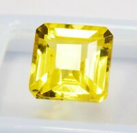 CERTIFIED Natural Beautiful Rare Yellow Ceylon Sapphire 11 Ct Loose Gemstone