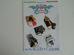 BEGALI MORSE KEYS (GENUINE LEAFLET ONLY)...........RADIO_TRADER_IRELAND.