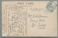 1905 Postcard sent to Mr A.H. Thomas, Derry Hill, Nr. Calne, Wilts