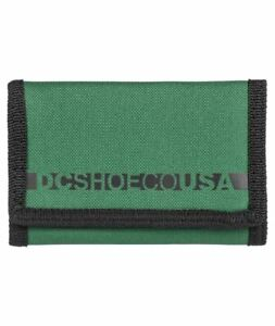 DC Shoes Trifold Wallet ~ Ripstop green