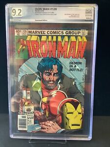 Iron Man#128 Graded 9.2 Alcoholism Story Newstand Edition