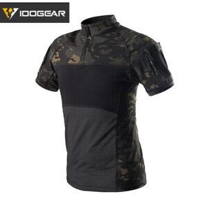 IDOGEAR Tactical Combat Shirt Perspiration T-Shirt Short Sleeve Tops Summer Gear
