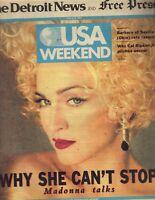 MADONNA USA Weekend Newspaper 6/8/90 CAL RIPKEN JR PC