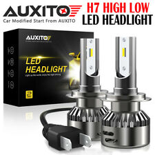 2X AUXITO 16000LM Car Truck H7 LED Headlight Kit Bulbs 6000K White Light 12V EA