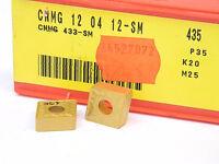 NEW 10PCS. SANDVIK CNMG 433-SM GRADE: 435 CARBIDE INSERTS