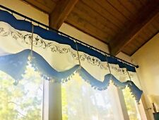Custom Made / Personalize French Country Linen And Burlap Valance
