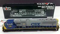KATO 37-6407 CSX EMD SD70MAC Diesel Locomotive 713 HO Scale DCC Ready