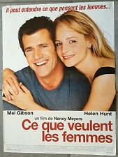 Poster CE QUE VEULENT women What women want MEL GIBSON 15 11/16x23 5/8in