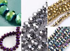 6x5mm Glasschliffperlen 90-95St. Fädelloch 1mm Glass Beads metallic