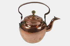 Small Antique C. 1800 Copper Water Kettle, Dutch.