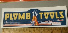 Plomb Tools War Time WW2 decal for restoration of vintage tool box 1940's vinyl