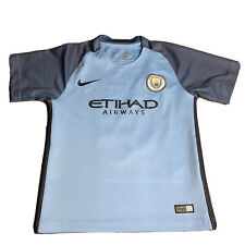Nike Dri-Fit Manchester City FC 2016 Etihad Jersey Boys Youth 5-6 Kun Agüero #10