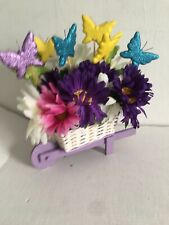 Easter Wheel barrow with Butterflies and Flowers